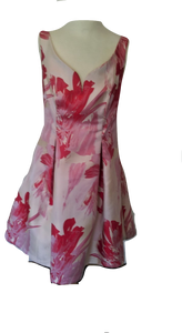 Coast stunning red/pink dress perfect for weddings/races size 10 VGC