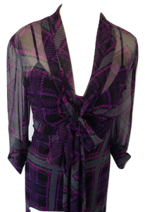 Diane von Furstenberg purple dress Size 10 VGC