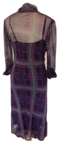 Load image into Gallery viewer, Diane von Furstenberg purple dress Size 10 VGC