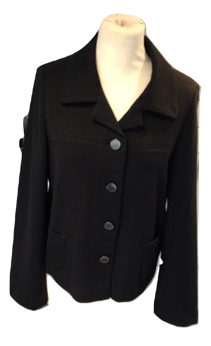 Gerard Darel black jacket size  42 VGC
