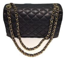 Load image into Gallery viewer, Grey quilted leather bag