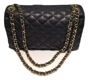 Grey quilted leather bag