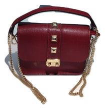 Load image into Gallery viewer, Wine red small leather bag