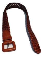 Load image into Gallery viewer, Tan leather plaited belt
