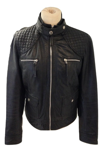 Oakwood Black Leather Jacket  size medium