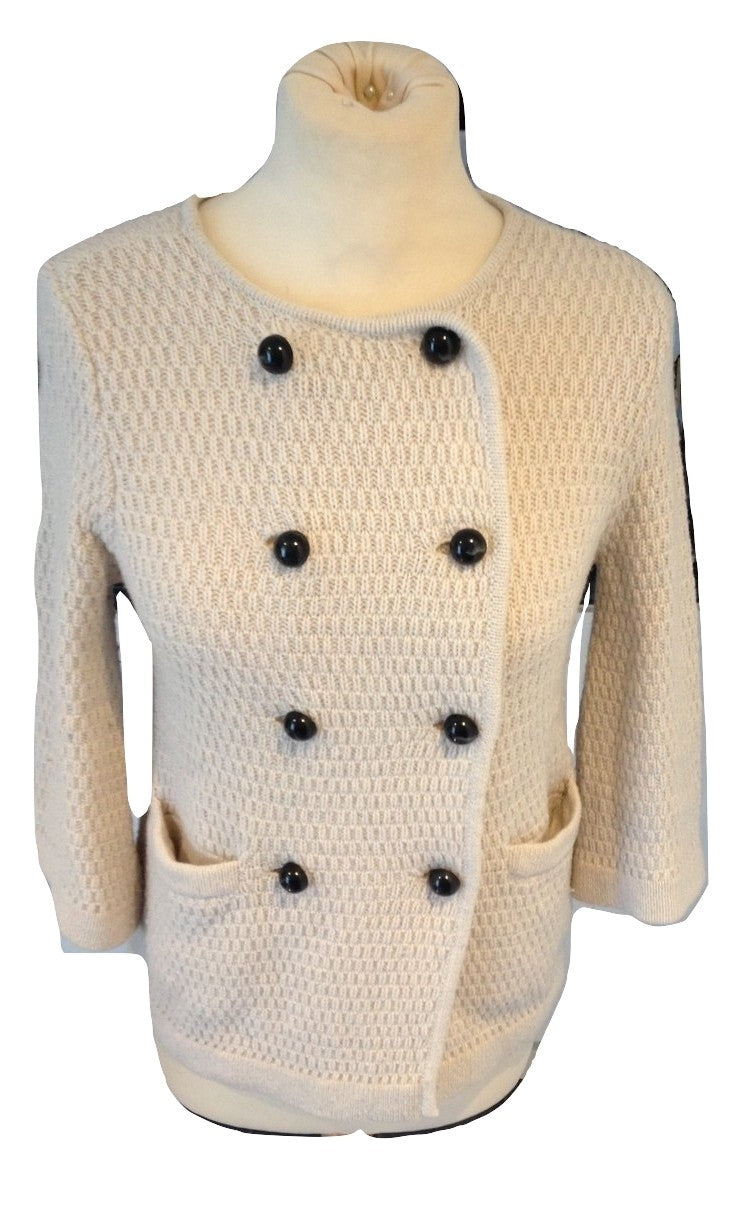 Goat Library cream knitted jacket Size 8