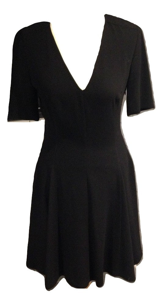 Joseph v neck black evening dress size 36