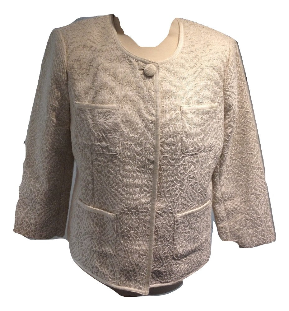 Paul Costello cream self patterned jacket