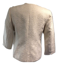 Load image into Gallery viewer, Paul Costello cream self patterned jacket