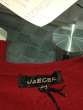 Load image into Gallery viewer, Jaeger short sleeve berry sweater
