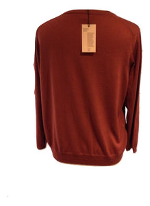 Jaeger rust coloured cardigan size Medium