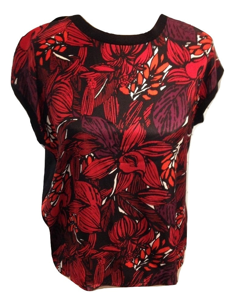 Jigsaw  sleeveless top with floral front Size Medium
