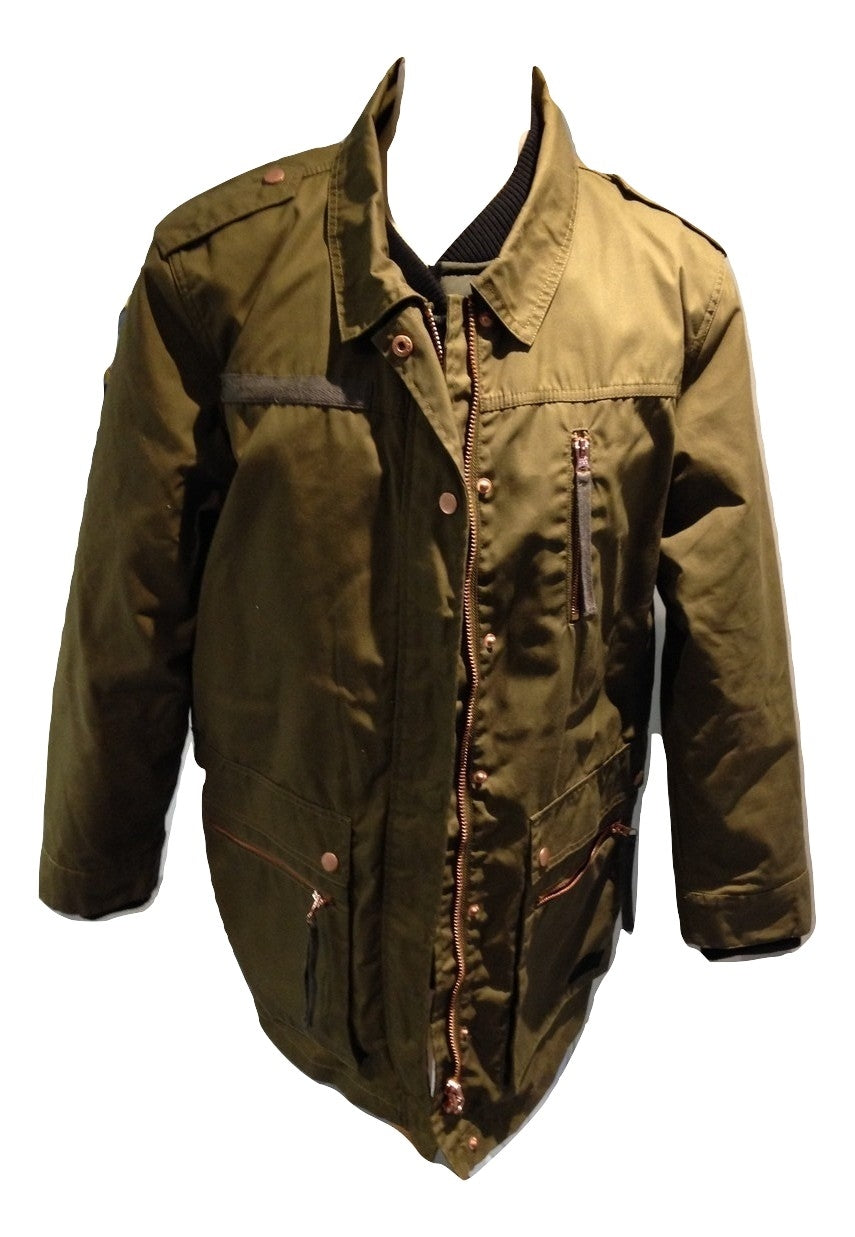 Minimum green wax style jacket & quilted jacket size 40