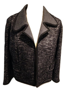 Jaeger jacket in black/grey/white tweed effect  Size 14
