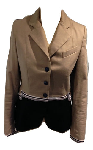 Vilagallo Beige and Navy Jacket Size 38 in very good condition