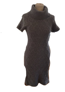Banana Republic Grey Knitted Dress Size XS In Very Good Condition