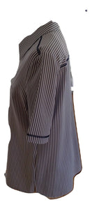 Erfo Dark Grey and White Striped Shirt Size 38