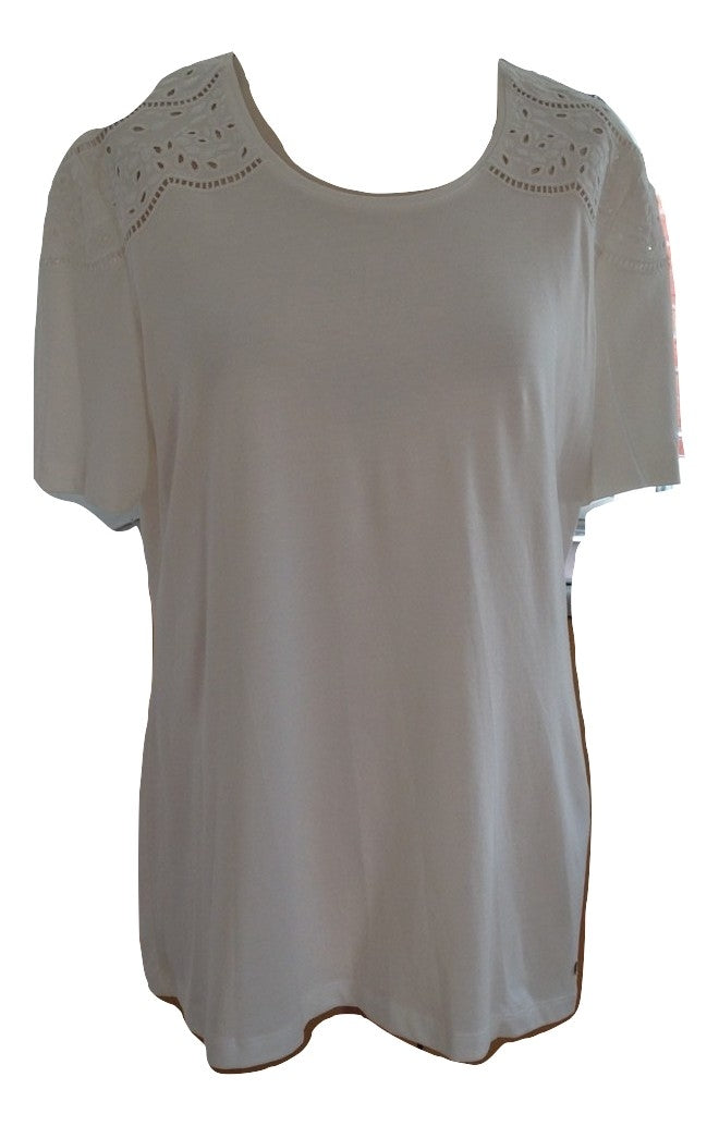 Gerry Webber Ivory Tee Shirt Size 16 New With Tags