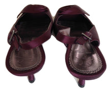 Load image into Gallery viewer, phase 8 aubergine evening sandals Size 6