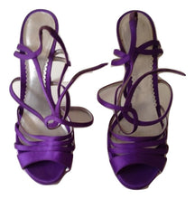 Load image into Gallery viewer, Martin Clay purple satin sandals Size 39
