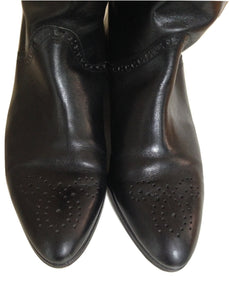 Austin Reed Options Black Leather Boots  Size 6 1/2