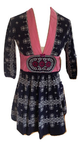 Odd Molly dress in navy/white pattern size 1 (10)