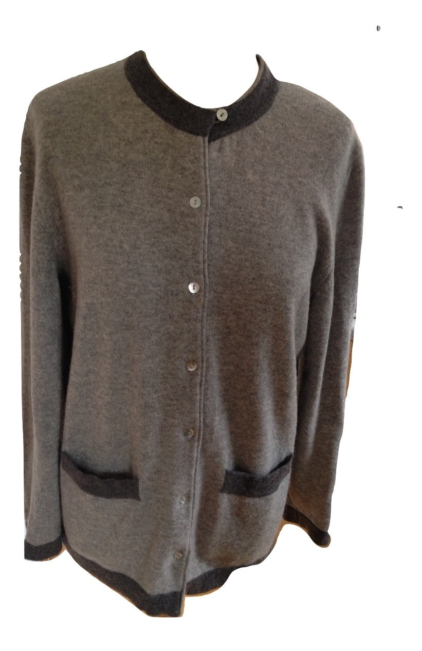 Blunelange Grey Cashmere Cardigan Size Medium