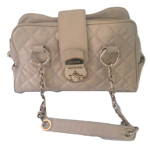 Jaeger beige quilted bag