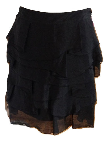 Reiss Black Evening Mini Skirt Size 6 (This is a large 6 )