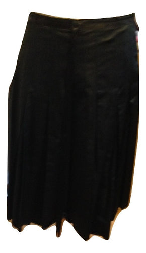 Flynow Black Satin Evening Skirt Size 12