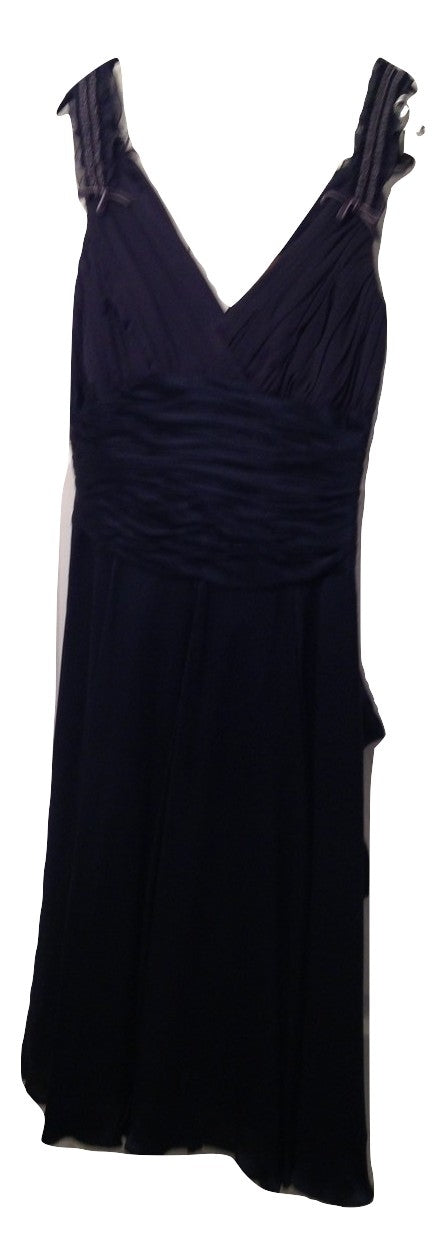 Fenn Wright Manson Silk Short Navy Evening Dress Size 8