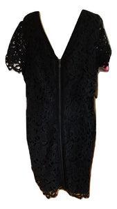 Mint Velvet Black Lace Dress Size 18