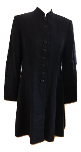 Hobbs Long Black Jacket Size 10
