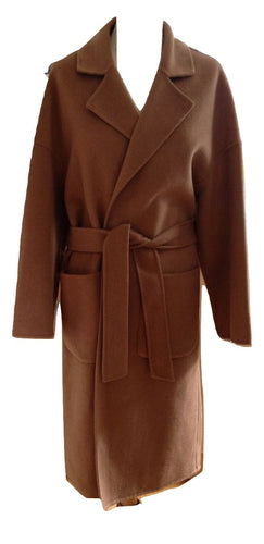 Mango Camel Coat Size Medium