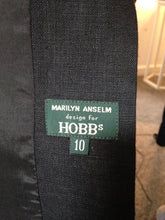 Load image into Gallery viewer, Hobbs Long Black Jacket Size 10