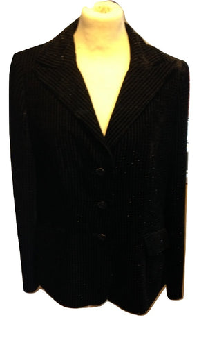 Vintage Laura B Black Couture Jacket Size 40