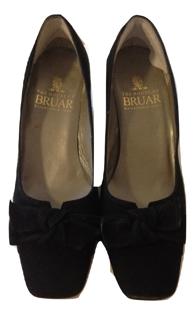 House of Bruar Black Suede Shoe Size 4