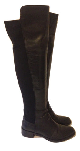 Lamica black leather over the knee boots Size 39