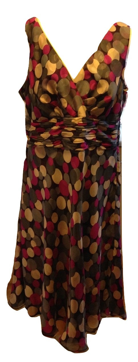 Monsoon Short Evening Dress Size 18