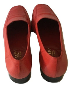Amalfi red leather moccasins Size 11B/UK7