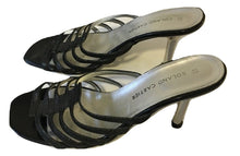 Load image into Gallery viewer, Roland Cartier Pewter Leather Heeled Sandals Size 39 USA 9