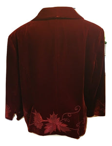 Alex & Co Claret Evening Jacket Size 20
