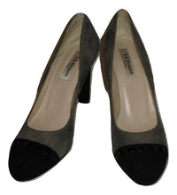 Load image into Gallery viewer, L.K. Bennett taupe and black suede court shoes  Size 37 1/2