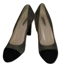 Load image into Gallery viewer, L.K. Bennett Black/Taupe Suede Courts Size 3.5/36