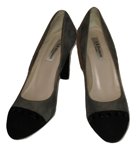 L.K. Bennett Black/Taupe Suede Courts Size 3.5/36