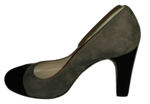 L.K. Bennett taupe and black suede court shoes  Size 37 1/2