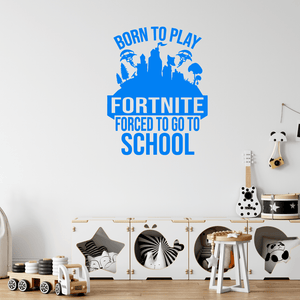 Born To Play Fortnite Children's Wall Sticker