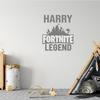 Personalised Name Children's Fortnite Legend Wall Sticker