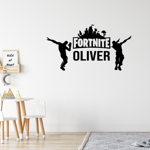 Custom Name Fortnite Wall Sticker