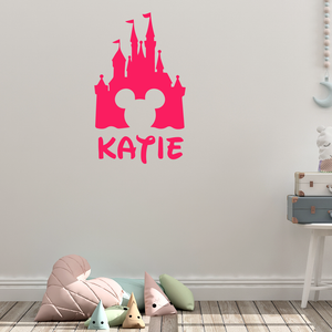 Disney Personalised Name Castle Wall Sticker